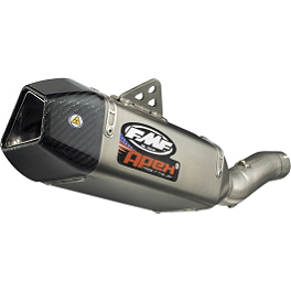 FMF Apex Slip-On Exhaust - Titanium - FMF Apex Cylindrical Slip-On Exhaust - Carbon Fiber
