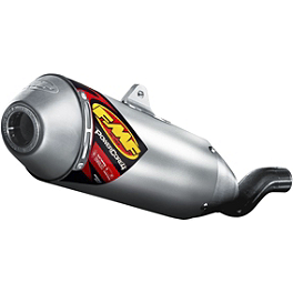 FMF Powercore 4 Slip-On Exhaust - 4-Stroke - Blingstar MX Series Grab Bar - Polished Aluminum