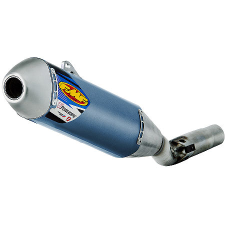 FMF Titanium Powercore Slip-On Exhaust - Blue Anodized Titanium - Main
