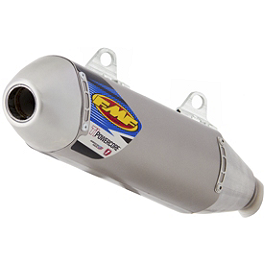 FMF Titanium Powercore Slip-On Exhaust - Natural Titanium - FMF Factory 4.1 Slip-On Exhaust - Natural Titanium With Stainless Steel Mid Pipe