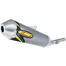 FMF Q4 Spark Arrestor Slip-On Exhaust - 2009 Suzuki RMZ450 FMF Factory 4.1 Slip-On Exhaust - Natural Titanium With Stainless Steel Mid Pipe