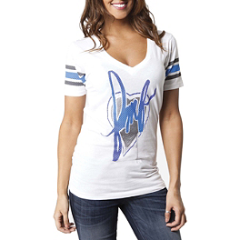 FMF Women's Heart V-Neck T-Shirt - Lucas Oil Air Tool Oil