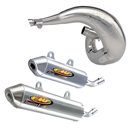 FMF Fatty Pipe & Powercore 2 Silencer Combo - 1995 Kawasaki KX250 FMF Powercore 2 Shorty Silencer - 2-Stroke