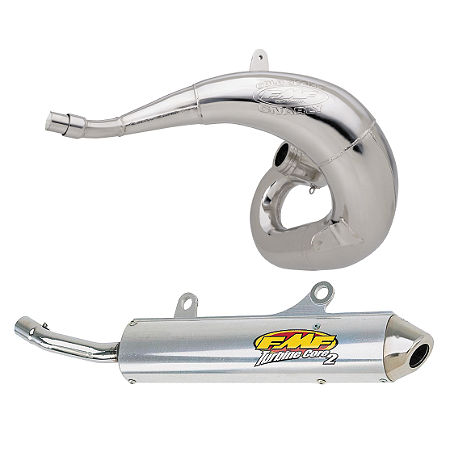 FMF Gnarly Pipe & Turbinecore 2 Spark Arrestor Silencer Combo - Main