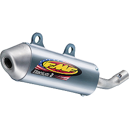 FMF Titanium II Silencer - 2007 Honda CR250 FMF Fatty Pipe & Powercore 2 Silencer Combo