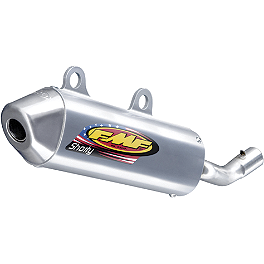 FMF Powercore 2 Shorty Silencer - 2-Stroke - 2004 Honda CR250 FMF Fatty Pipe & Turbinecore 2 Spark Arrestor Silencer Combo