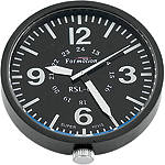 Formotion Reference SL Clock With Gunmetal Case And Black Face - Bolt-On - Formotion Cruiser Dash and Gauges