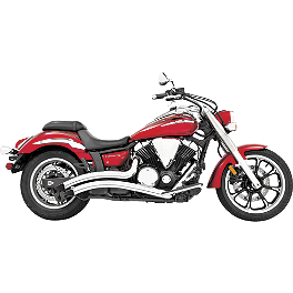 Freedom Performance Radius Exhaust - Chrome - 2009 Yamaha Road Star 1700 Silverado S - XV17ATS Cobra Speedster Slashdown Exhaust