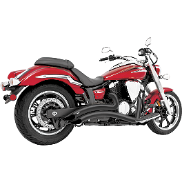 Freedom Performance Radius Exhaust - Black - 2011 Yamaha V Star 950 Tourer - XVS95CT Yamaha Star Accessories Classic Deluxe Saddlebags - Plain