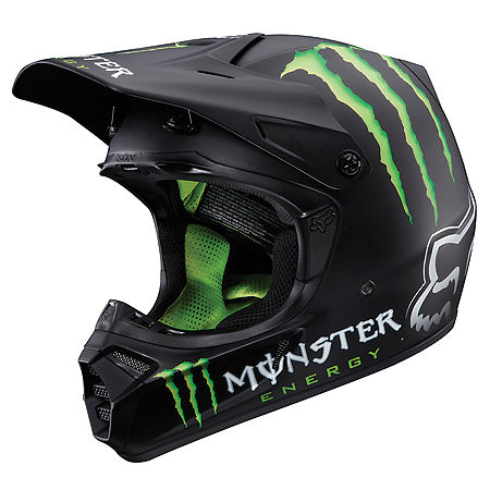 2013 Fox V3 Helmet - RC Monster Matte  - Main