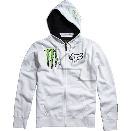 FOX MONSTER RICKY CARMICHAEL REPLICA RC4 ZIP FLEECE HOODY - White