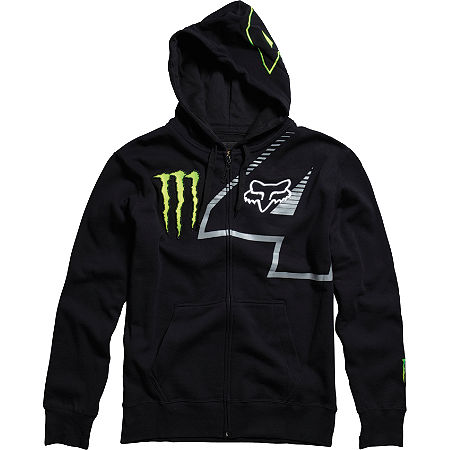 FOX MONSTER RICKY CARMICHAEL REPLICA RC4 ZIP FLEECE HOODY - Black