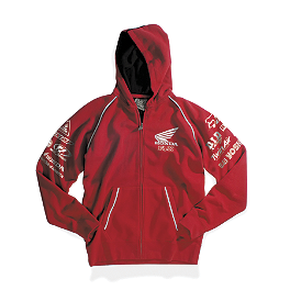 Fox Honda Factory Zip Hoody - FOX MONSTER RICKY CARMICHAEL REPLICA RC4 ZIP FLEECE HOODY