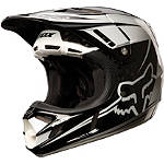 2013 Fox V4 Flight Carbon Helmet - FOX-FEATURED Fox Dirt Bike