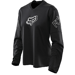 2014 Fox Women's Blackout Jersey  - 2013 Fox Women's Bomber Gloves