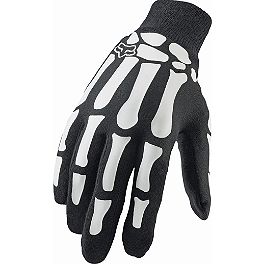 Fox Mudpaw Gloves - Bones - Fly Racing Pit Tech Lite Gloves
