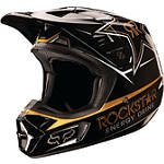 2013 Fox V2 Helmet - Rockstar - Fox Dirt Bike Off Road Helmets