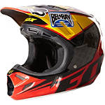 2013 Fox V4 Helmet - Reed Replica - Fox Dirt Bike Off Road Helmets