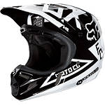 2013 Fox V4 Helmet - Machina - FOUR Dirt Bike Helmets and Accessories