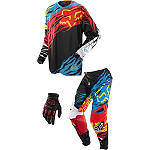 2014 Fox 360 Combo - Forzaken - Fox Dirt Bike Pants, Jersey, Glove Combos