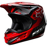 2014 Fox V1 Helmet - Race - Dirt Bike Off Road Helmets