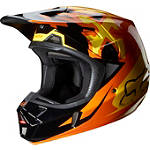 2014 Fox V2 Helmet - Anthem - Dirt Bike Off Road Helmets