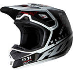 2014 Fox V2 Helmet - Overseer - Fox Dirt Bike Riding Gear