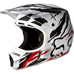 2014 Fox V4 Helmet - Forzaken - Fox Dirt Bike Helmets and Accessories