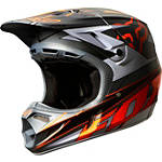 2014 Fox V4 Helmet - Race - Fox Dirt Bike Helmets and Accessories