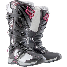 2014 Fox Women's Comp 5 Boots  - GMAX Women's GM46X-1 Helmet - Core