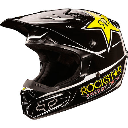 2013 Fox Youth V1 Helmet - Rockstar - Main