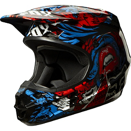 2014 Fox Youth V1 Helmet - Creepin - 2014 Fox Youth V1 Helmet - Matte
