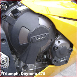 GB Racing Engine Cover Set - 2012 Triumph Daytona 675 GB Racing No Mod Frame Slider Kit