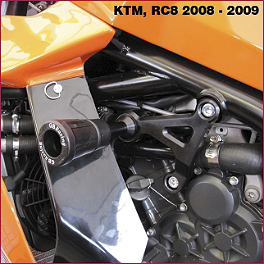 GB Racing No Mod Frame Slider Kit - 2009 KTM 1190 RC8 R GB Racing Clutch Cover