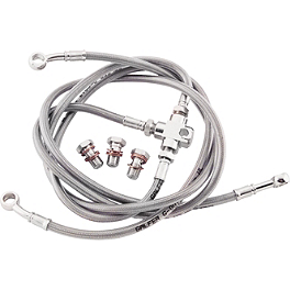 Galfer Front Brake Line Kit - 3 Line - 2008 Kawasaki KFX450R Galfer Rear Brake Line Kit +4