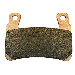 Galfer Sintered Brake Pads - Rear - 2012 Yamaha YFZ450 Galfer Standard Wave Brake Rotor - Rear