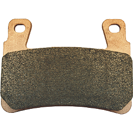 Galfer Sintered Brake Pads - Rear - 2010 Kawasaki KX450F Galfer Standard Wave Brake Rotor - Rear