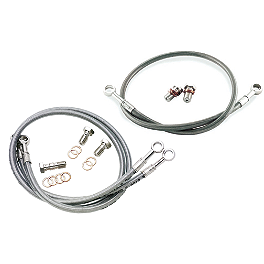 Galfer Front/Rear Brake Line Combo - 2004 Suzuki GSX600F - Katana Galfer G1054 Semi-Metallic Brake Pads - Front Right