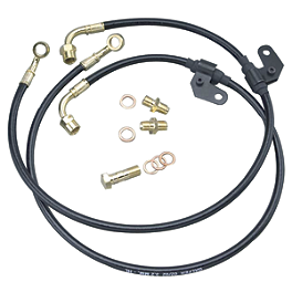 Galfer Super Bike Front Brake Line Kit Black - 2005 Kawasaki ZX600 - Ninja ZX-6RR Galfer G1054 Semi-Metallic Brake Pads - Rear