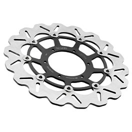 Galfer Wave Brake Rotor - Front - 1997 Suzuki GSX-R 750 Galfer Wave Brake Rotor - Front - Chrome