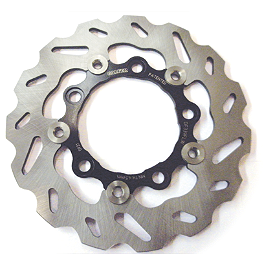 Galfer Floating Wave Brake Rotor - Rear - 2007 Suzuki GSX-R 750 Galfer Wave Brake Rotor - Front - Chrome