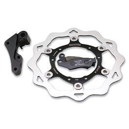Galfer Oversized Front Brake Rotor Kit - 2009 Honda CRF150R Big Wheel Galfer Semi-Metallic Brake Pads - Rear