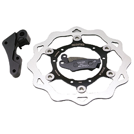 Galfer Oversized Front Brake Rotor Kit - 2008 Suzuki RM250 Galfer Standard Wave Brake Rotor - Rear
