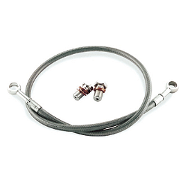 Galfer Rear Brake Line Kit - +6 Inches - 2008 Kawasaki ZX1400 - Ninja ZX-14 Yana Shiki LRC Billet Swingarm Extension - 4-6
