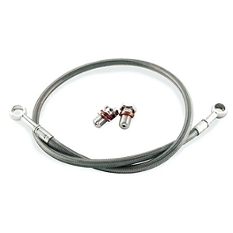 Galfer Rear Brake Line Kit - +6 Inches - 2007 Honda CBR600RR Yana Shiki LRC Billet Swingarm Extension - 4-6