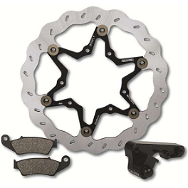 Galfer Wave Superlight Oversize Front Brake Rotor Kit - 2010 Kawasaki KX450F Galfer Sintered Brake Pads - Front