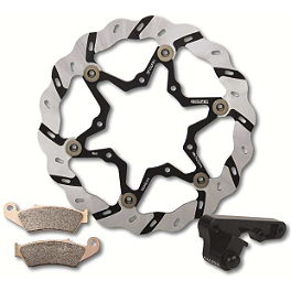 Galfer Superlight Tsunami Oversized Front Brake Rotor Kit - 2008 Kawasaki KX250F Galfer Semi-Metallic Brake Pads - Rear