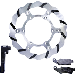 Galfer Tsunami Oversized Front Rotor Kit - 2004 Honda CRF450R Galfer Semi-Metallic Brake Pads - Rear