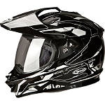 GMAX GM11D Dual Sport Helmet - Graphic - GMAX Helmets ATV Riding Gear