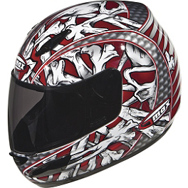 GMAX GM48 Helmet - Bones - GMAX GM48 Full Face Helmet - Shattered